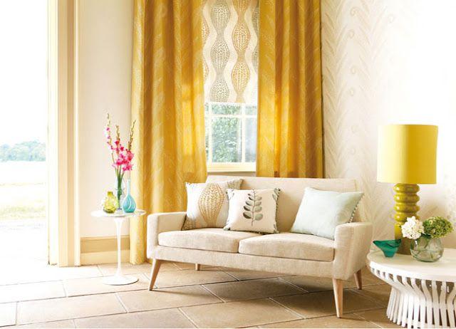 Salas decoradas em amarelo ~ Decoração e Ideias - casa e jardim