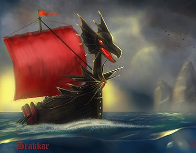 "Check out new work on my @Behance portfolio: ""Drakkar"" http://be.net/gallery/37330295/Drakkar"