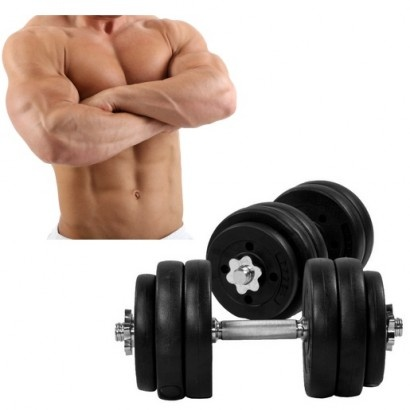 Dumbellset 30 kg kunststof  #fitness #fitnessapparatuur #dumbell-set