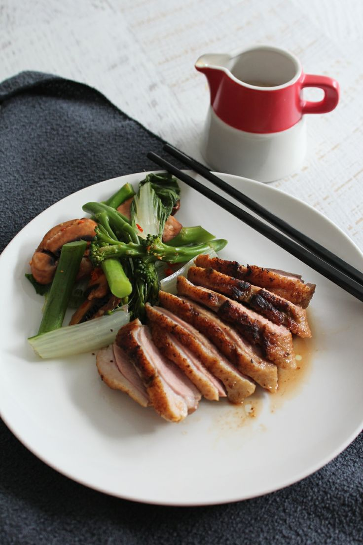 Five spice duck with mushrooms and Asian greens | Recipe from Thermomix recipe booklet #cookingformeandyou