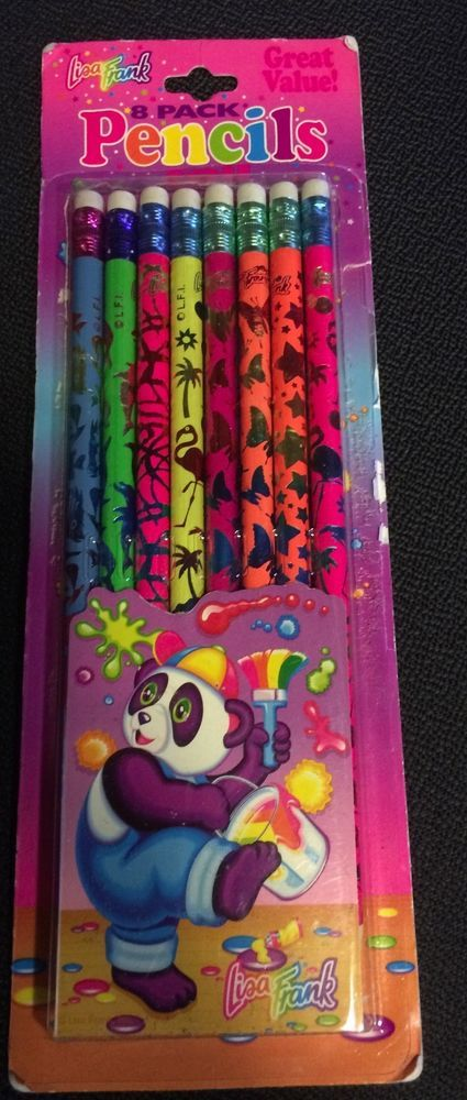 Vintage Lisa Frank 8-pack Foil Pencils opened #LisaFrank