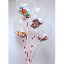 Confetti Filled Balloons (Set of 3) Wedding/ Party/ Birthday