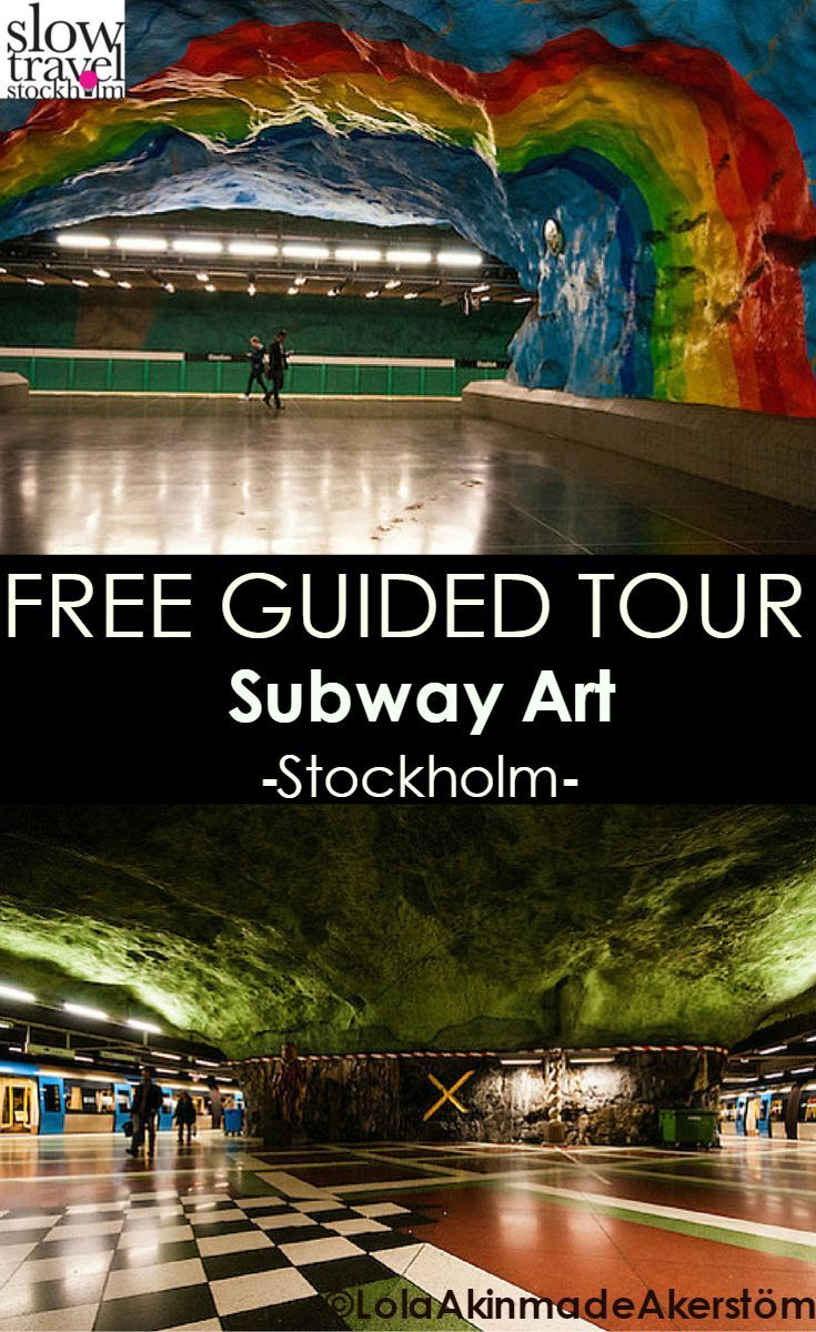 A glimpse of various ART to see on Stockholm's underground FREE guided tour. #Mindblowing Find more at: Slow Travel Stockholm
