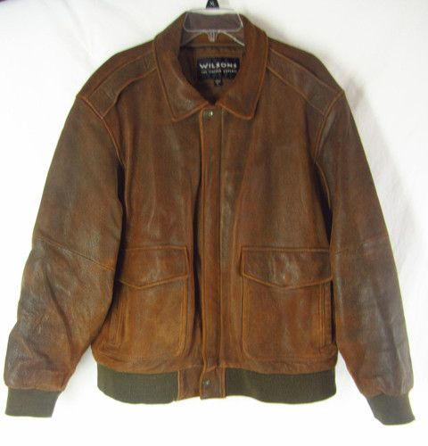 Mens distressed leather bomber jacket