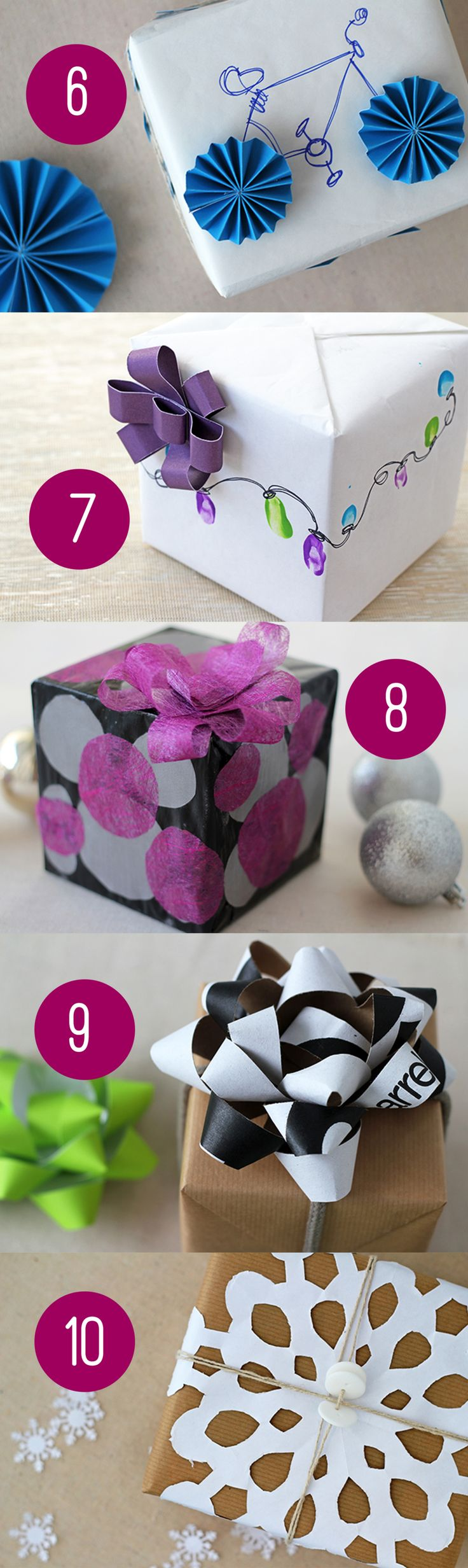 10 fun wrapping ideas to jazz up your holiday packages #wrapping #christmas