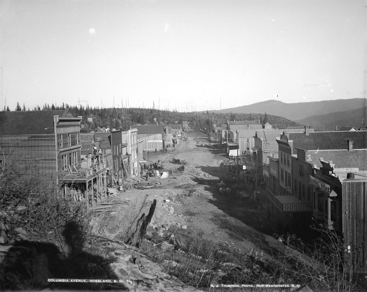 First construction | Rossland, British Columbia, Canada