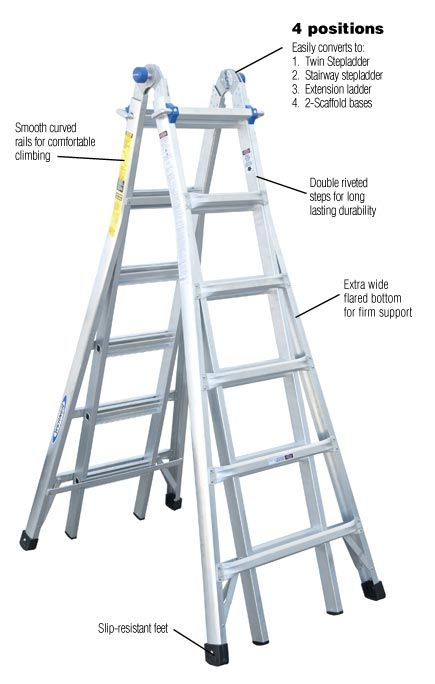 Aluminum Step Ladder With 300 Lb Load Capacity Type