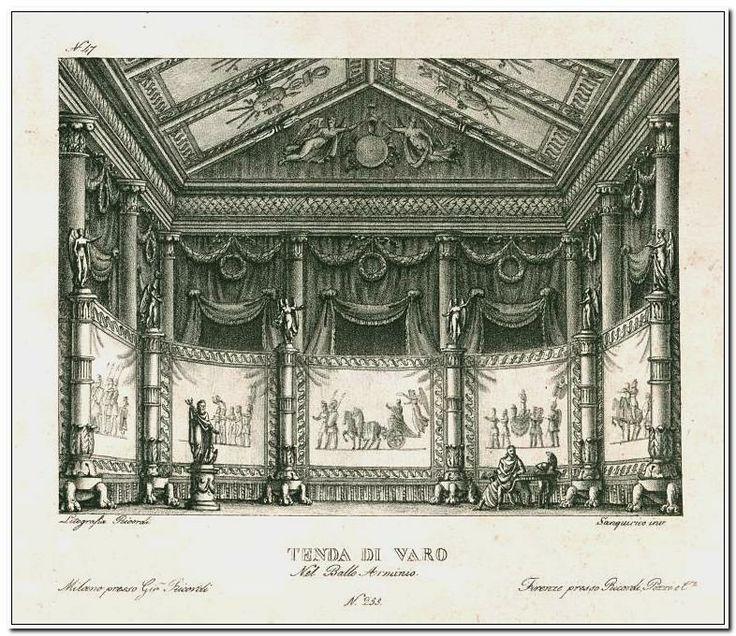 Tenda di varo nel ballo Arminio. Litografia Ricordi. Sanquirico inv. [Arminio.] ([1828?])