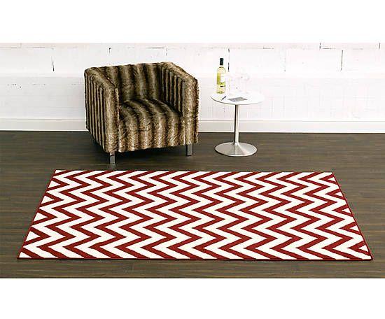 Teppich Zigzag, rot/creme, 160 x 230 cm