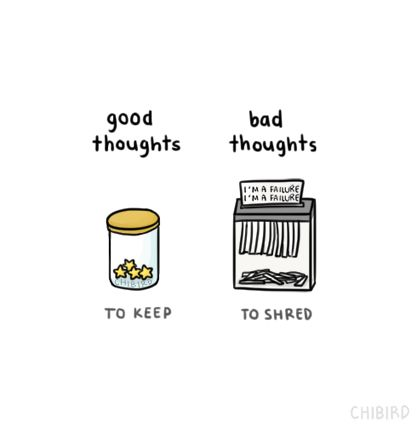 A visual way for removing negative thoughts.