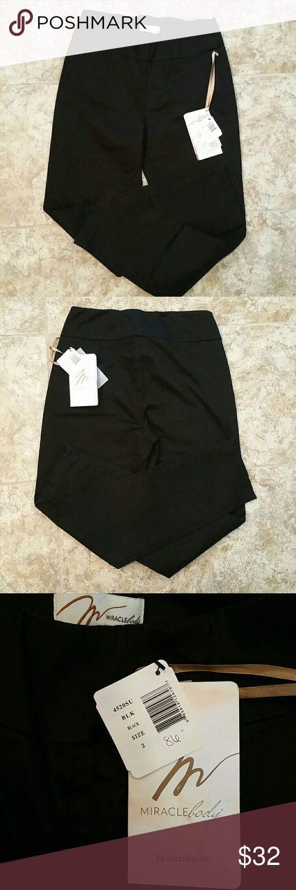 NWT Miraclebody jeans NWT black, no pockets, zippers or buttons. Miraclesuit Pants Straight Leg