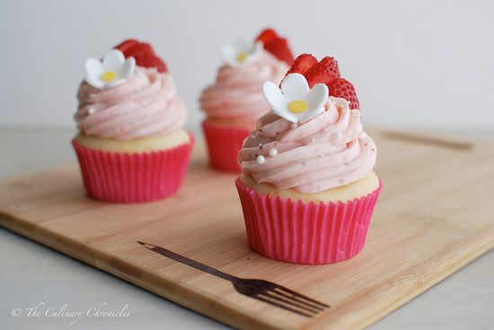 Strawberry Shortcake Cupcakes Recipe - Cupcake Daily Blog - Best Cupcake Recipes .. one happy bite at a time!