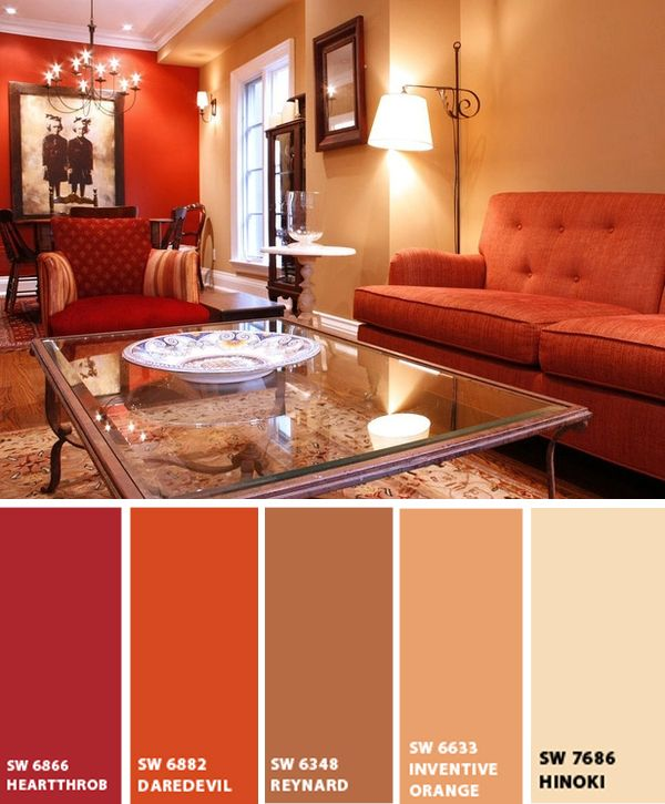 16 best sherwin williams whole wheat images on pinterest - Red color schemes for living rooms ...