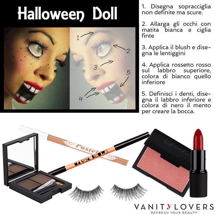 Halloween si avvicina... ecco una semplice idea per un makeup da realizzare velocemente! http://www.vanitylovers.com/?utm_source=pinterest.com&utm_medium=post&utm_content=home&utm_campaign=pin-vanity