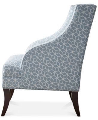 Best Riley Swoop Arm Chair Quick Ship Blue Chair Accent 400 x 300