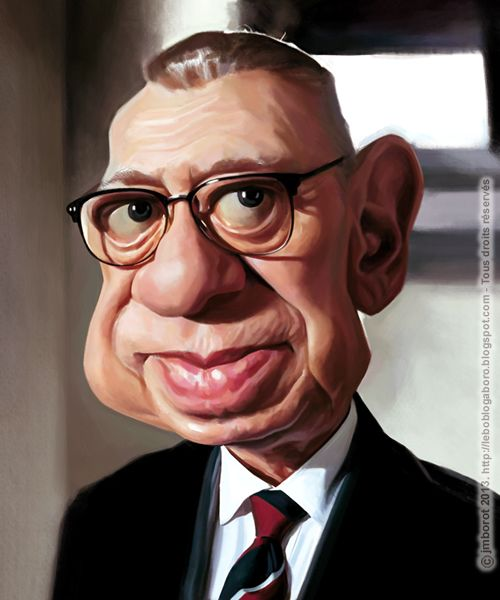 A caricature of Horst Tappert (alias Derrick). Not finished yet...