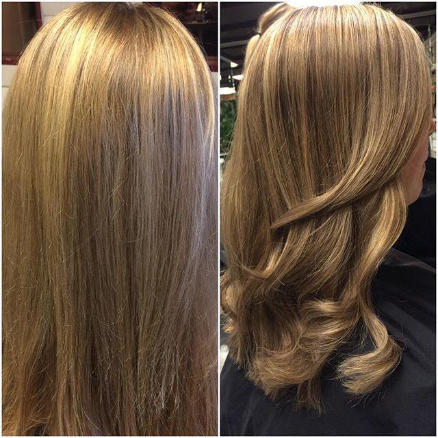 ✖️Från blond till en lyxigare mörkblond ✖️ frisör-Natalie #wella#hair#illumina#lyxblond