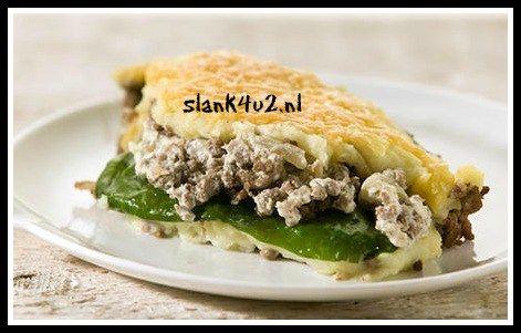 Gehakt ovenschotel met spinazie - Slank4u2