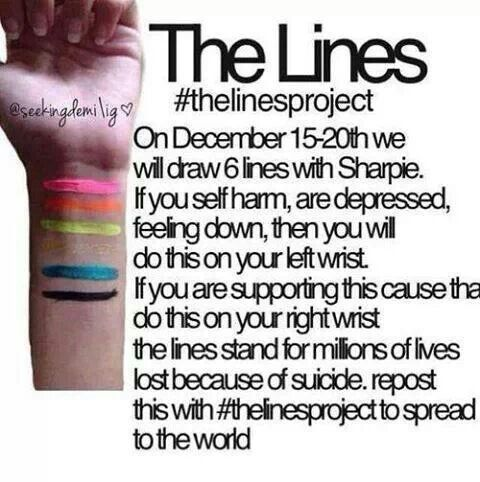 thelinesproject did this on both wrists each color stands