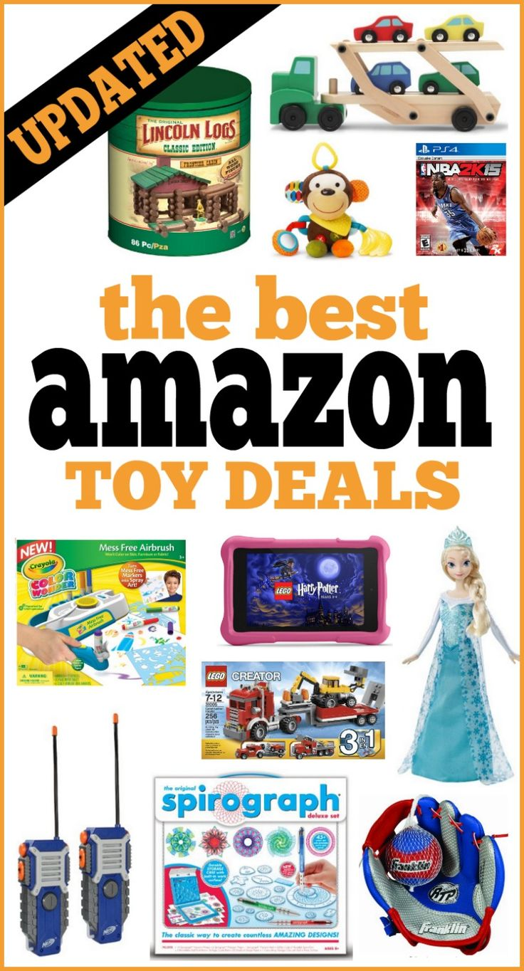 The Best Amazon Toy Deals -- All the lowest prices on the most popular toys, activities, games and movies for kids. This list is updated throughout the week, so pin it for future reference!