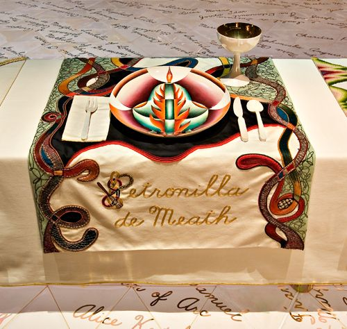 26 Best Images About Judy Chicago The Dinner Party On