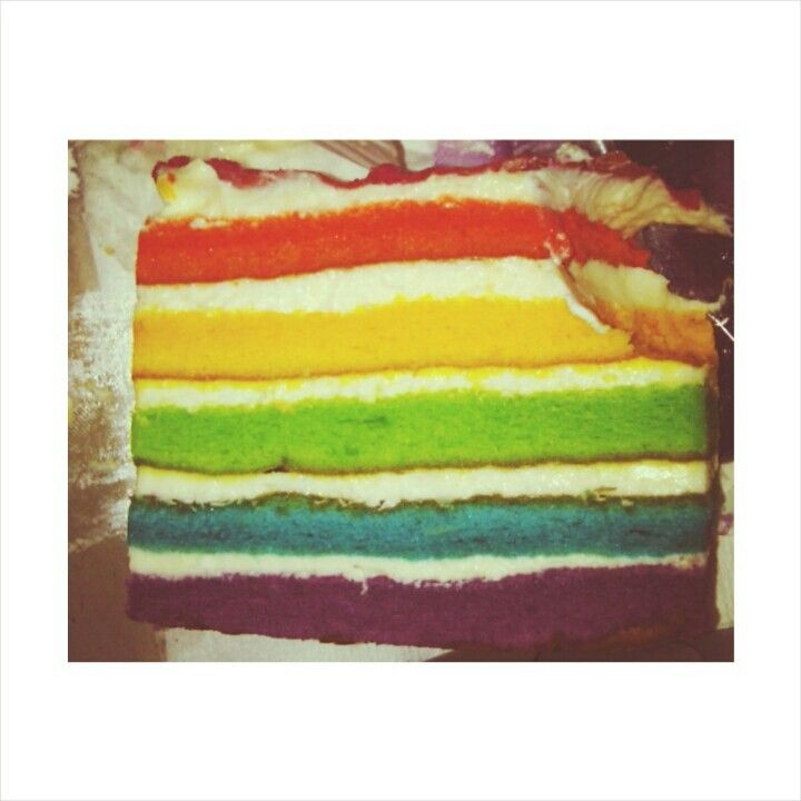 Rainbow cake for colouring your day :)