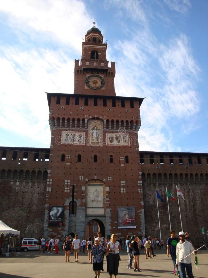 Photo about Detail from the Sforza Castle - July 2017 - Milan - Italy. Image of italy, fortification, july - 111277799