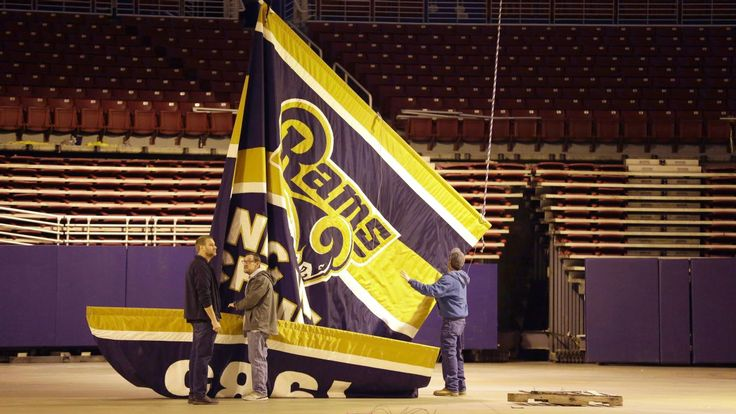 Rams banners removed from Edward Jones Dome