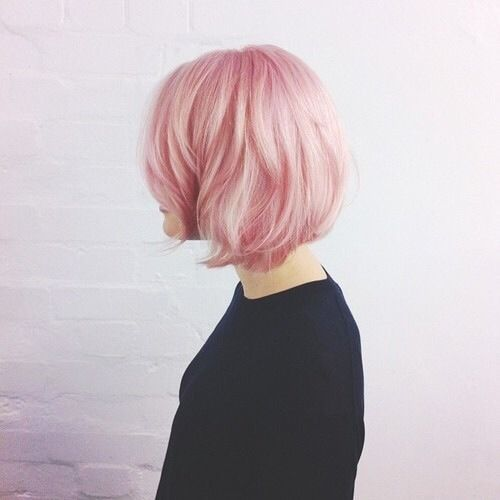 I would have pink hair in a second if I could!
