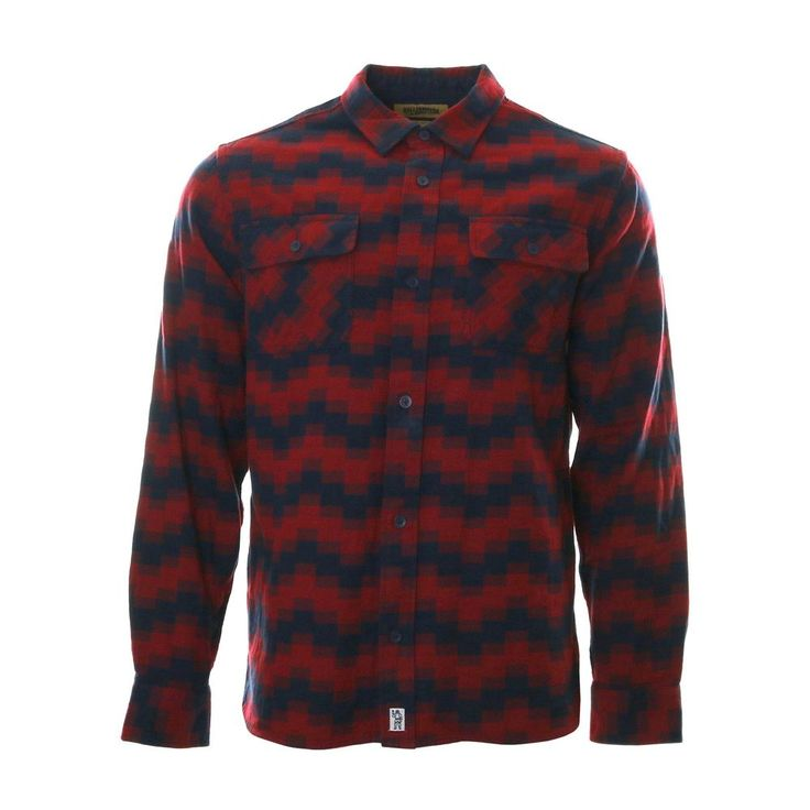 Billionaire Boys Club Digi Camo Flannel Shirt Red Navy Blue Size Large BBC…