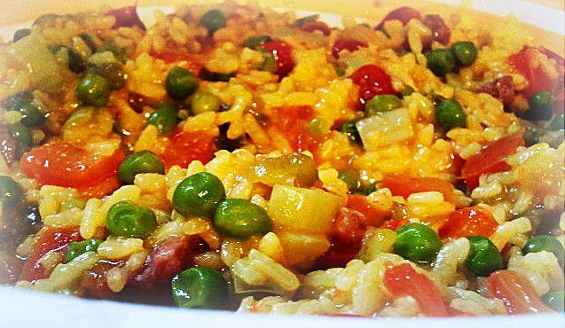 Paella vegetale - Vegetable paella