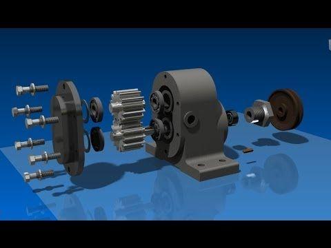 Autodesk Inventor 2013 - tutorial - como funciona - proyecto completo_001 - YouTube