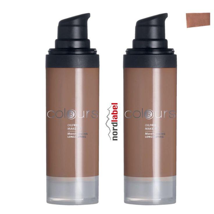 LR Colours Oilfree Make-up Dark Caramel 2 x 30 ml - Doppelset!