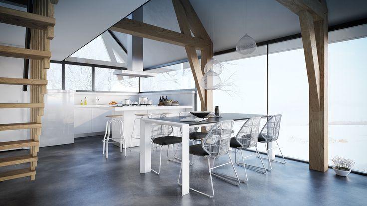 Interieur recreatiewoning - www.bongersarchitecten.nl