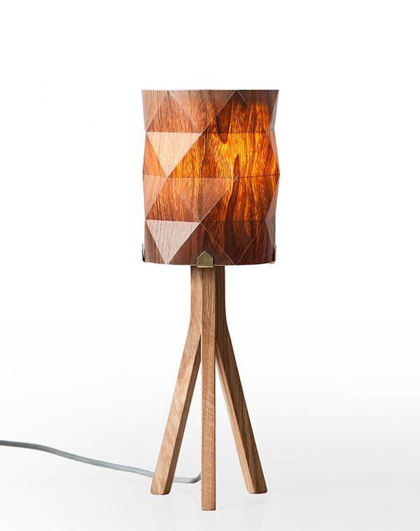 Handmade veneer lighting design by ariel zuckerman