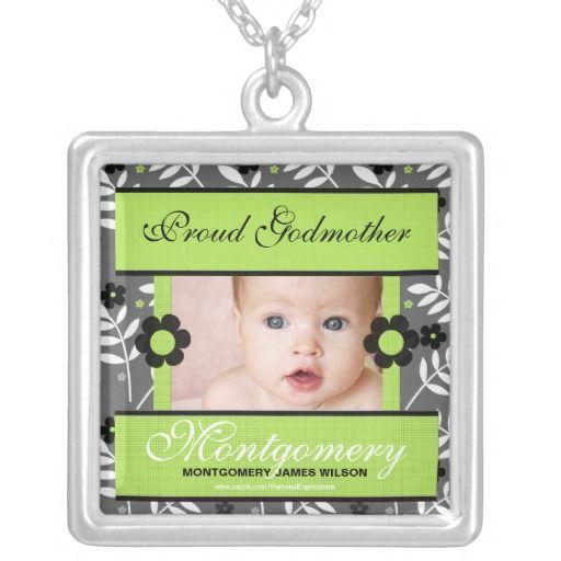 Proud Godmother Personalized Photo Necklace