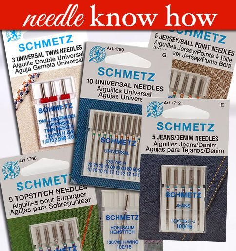 Needles are just needles, right? Not really. Whether it is sewing, quilting or embroidery, the type of needle you use makes a tremendous difference in the outcome. Read on to learn how to choose the best needles for your projects.