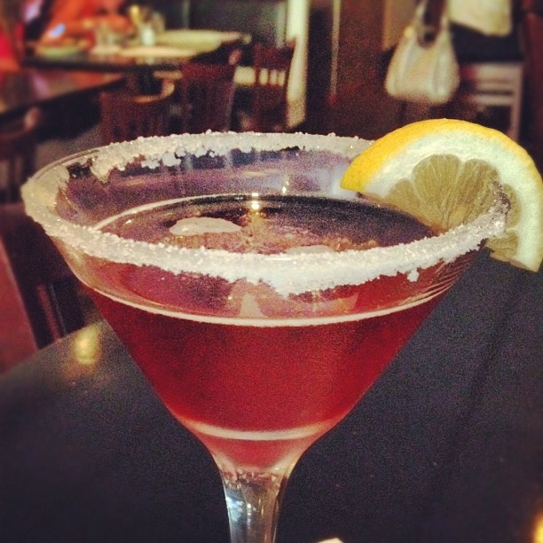 Winding down on a Wednesday. It's called a Boston Tea Party #martini