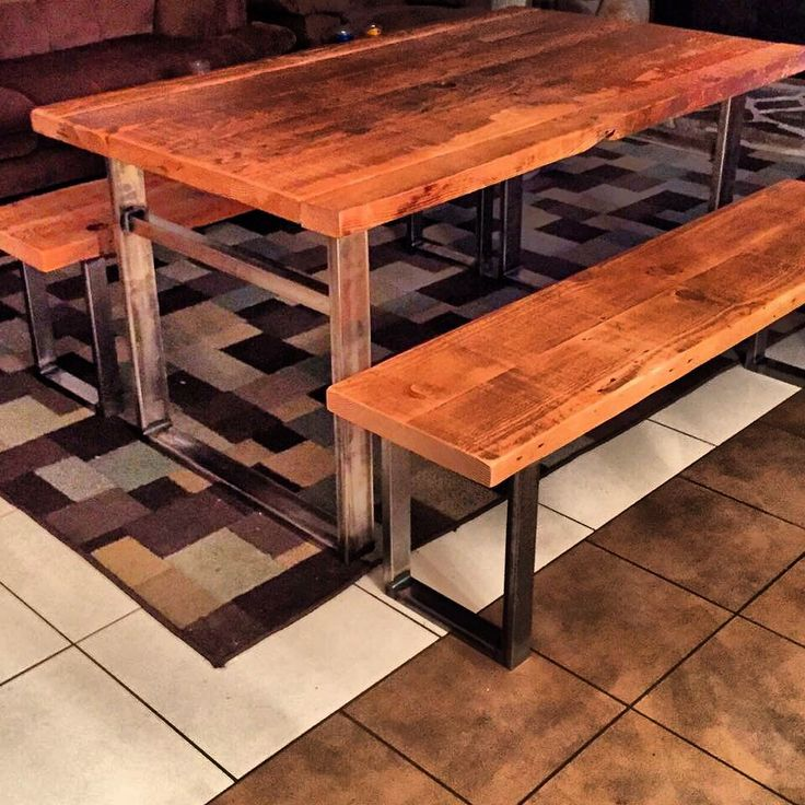 Industrial Dining Tables, Industrial Furniture, Wood Furniture, Urban  Industrial, Industrial Style, Reclaimed Wood Tables, Steel Table, Etsy Shop