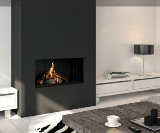 23 Modern Built-In Fireplaces To Bring A Cozy Touch | DigsDigs