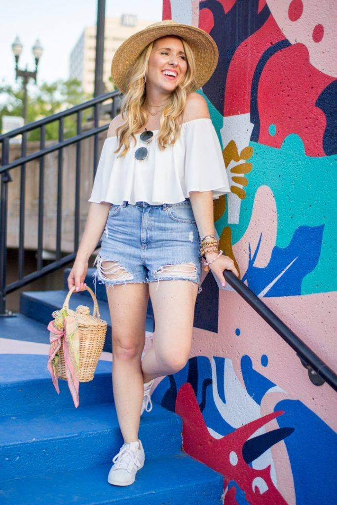 3d67c7b9ca Ripped Denim Shorts for Girls With Thicker Legs | Summer Weekend Style