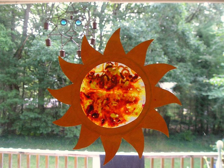 we made these sun catchers at *fun in the sun* camp a few weeks ago. since sienna was off at her own special camp that week, i saved the le...