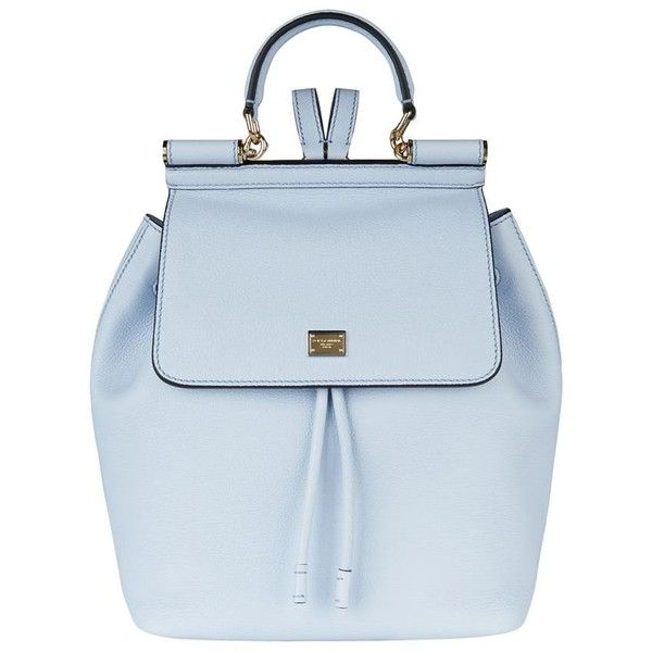 Dolce & Gabbana Sicily Backpack found on Polyvore featuring bags, backpacks, knapsack bags, dolce&gabbana, backpack bag, shoulder strap bag and blue bag