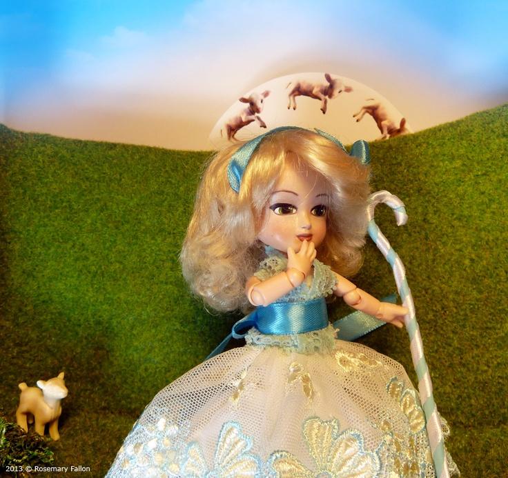 Bowpeep - Custom mimi 1/12 BJD / Doll Box - where are my sheep!