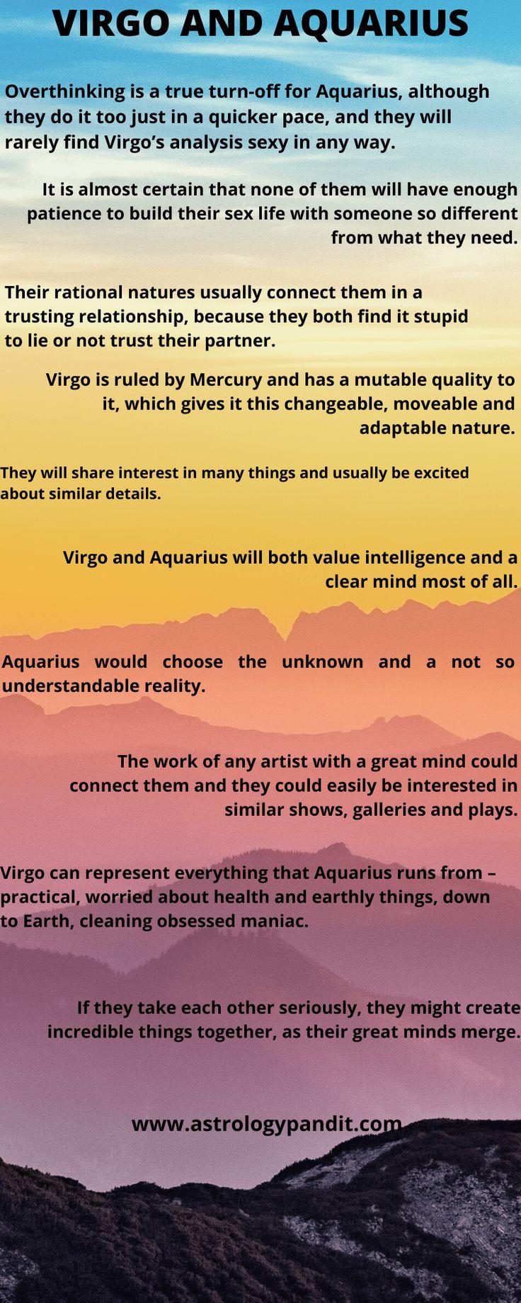 Virgo man Aquarius woman compatibility in love online