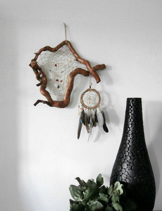 Check out this item in my Etsy shop https://www.etsy.com/uk/listing/265223413/large-dream-catcher-rustic-wall-hanging