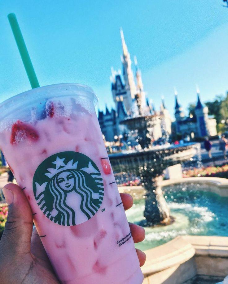 Magic Kingdom: Starbucks Strawberry Refresher, from Main Street Starbucks