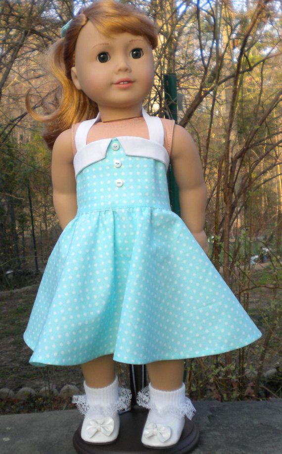 Robe d'été pour Mary Ellen ou autres poupées de 18 pouces