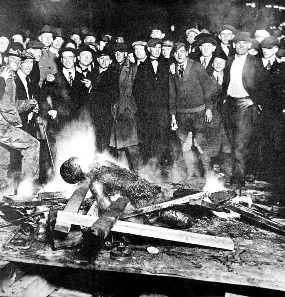 'The Inexpressible' a group of white men burn a black man alive 20th United States