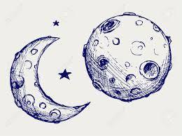 Resultado de imagen para dibujo luna con crateres